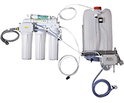 Automatic unit for demineralization of water